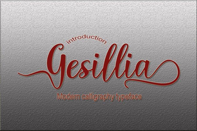 Gesillia Script Font example image 1