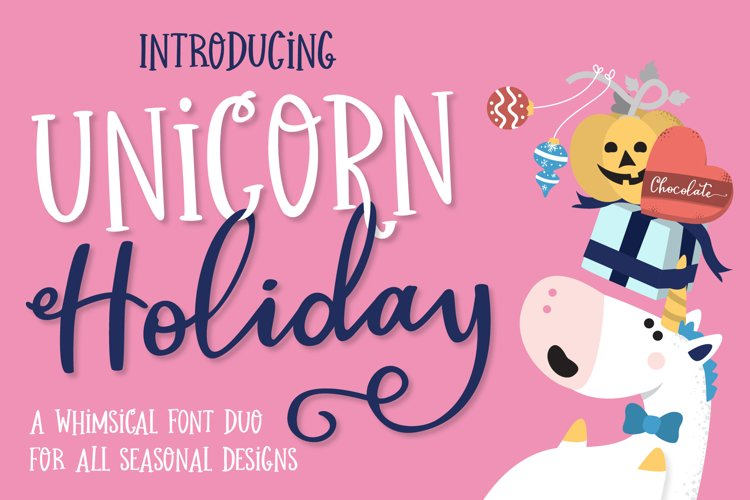 Unicorn Holiday Font Duo