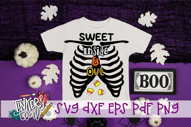 Sweet Inside & Out Halloween Skeleton SVG example image 1