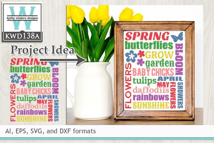 Spring SVG - Spring Subway Art example image 1