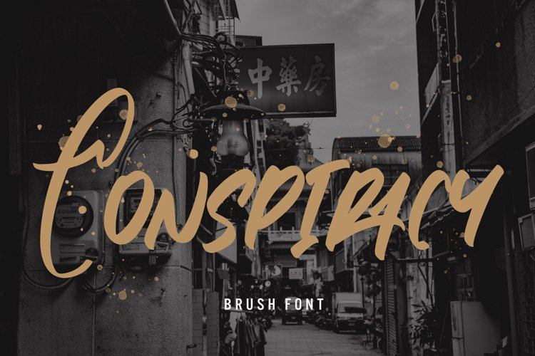 Conspiracy - Brush Font example image 1