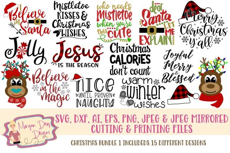 Christmas Bundle 1 SVG, DXF, AI, EPS, PNG, JPEG example image 1