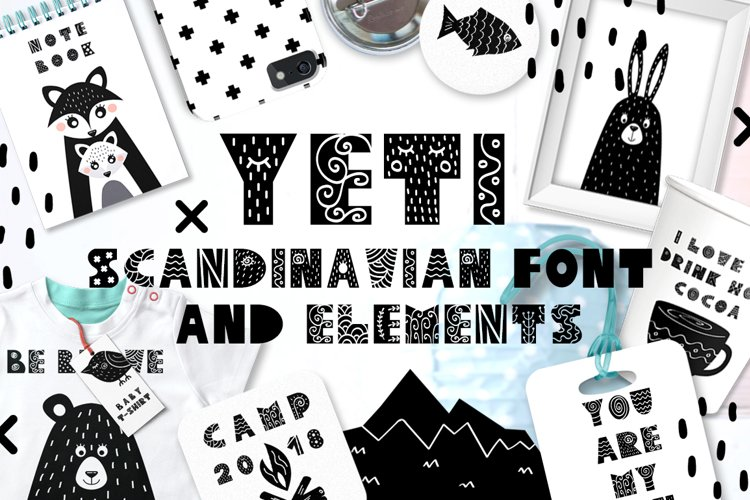 Yeti - Scandinavian font & elements example image 1