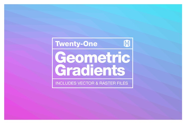 Geometric Gradient Polygon Backgrounds Collection