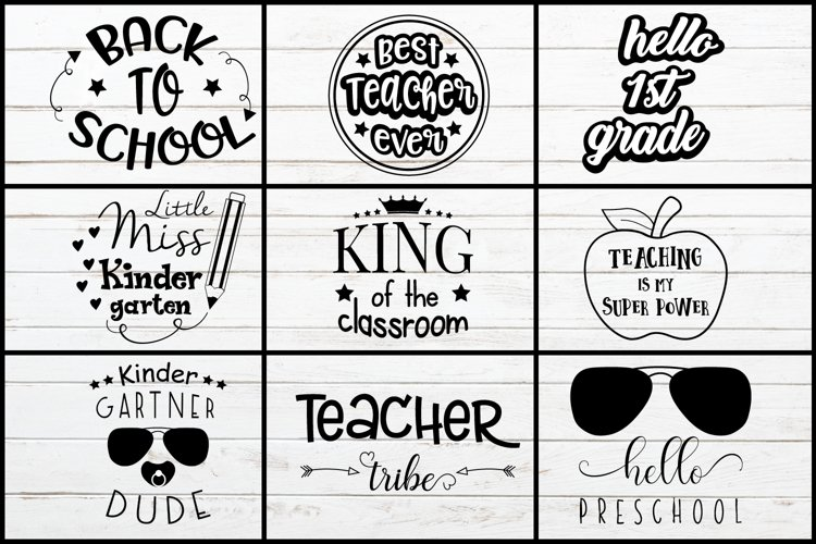 Back To School Svg example image 1