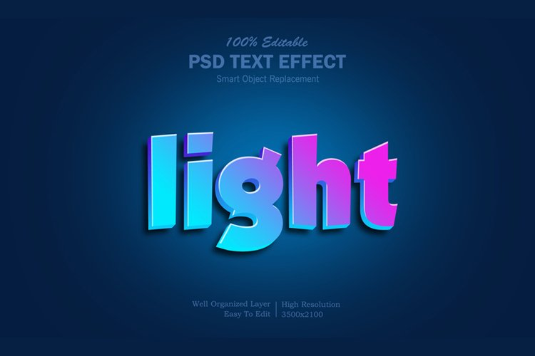Light Text Effect example image 1