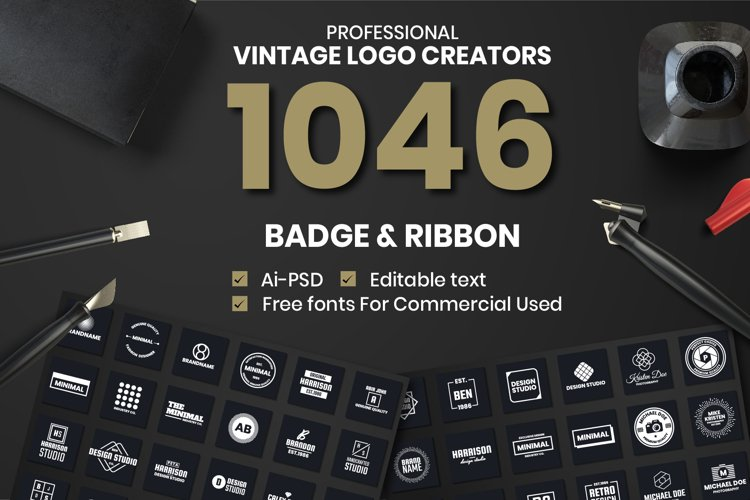 1046 Vintage Logo Creators example image 1