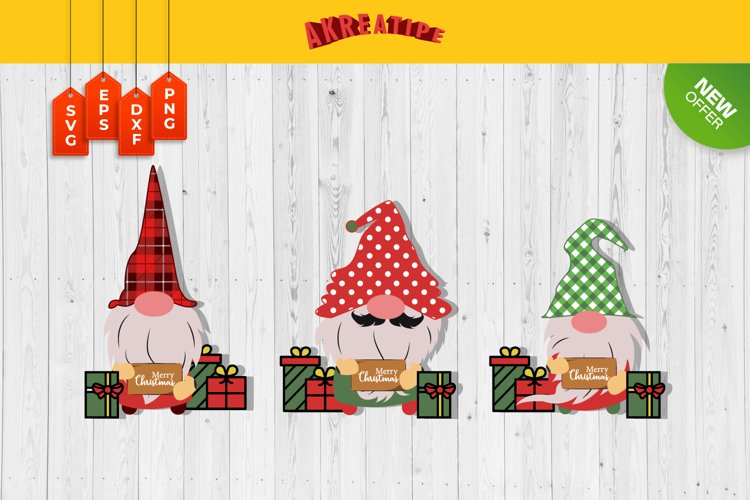 Gnomes Christmas SVG | Christmas SVG Bundle | Cut File example image 1
