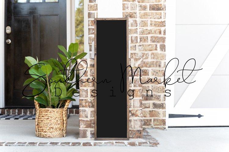 10x36 Framed Front Porch Wood Sign Real Wood MockUp