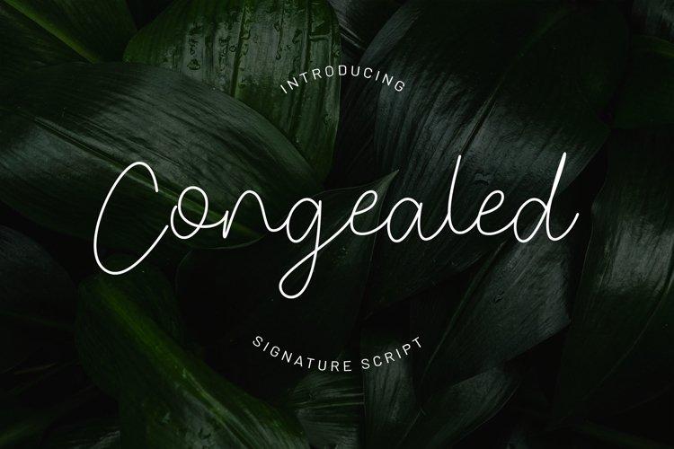 Congealed - Signature Font example image 1