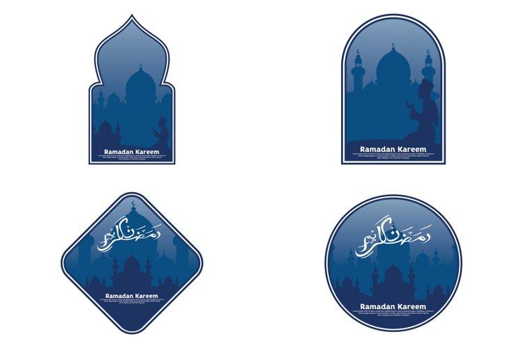 Set of ramadan kareem logo