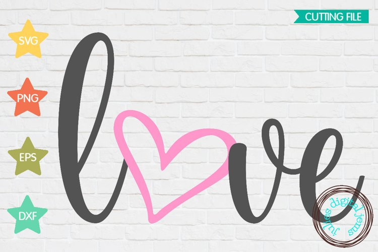Valentines Love Heart SVG example image 1