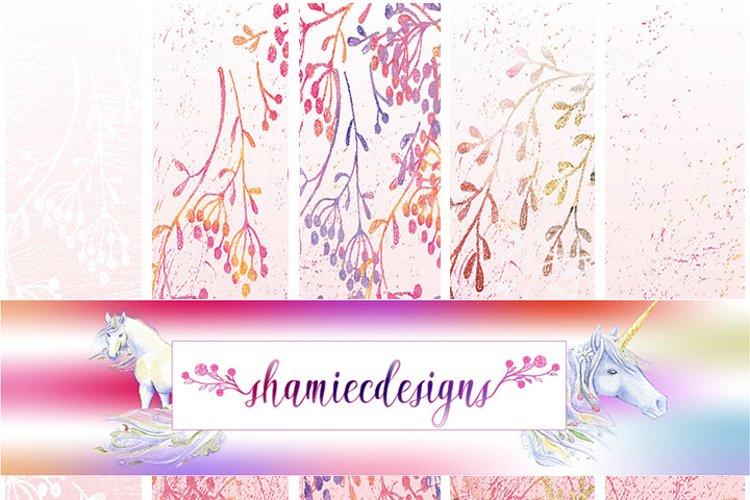Romantic pink digital paper example image 1