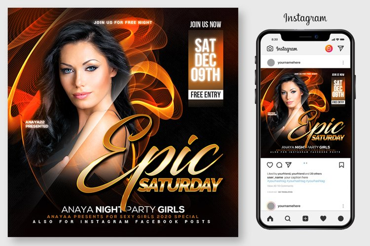 Epic Sound Flyer Template example image 1