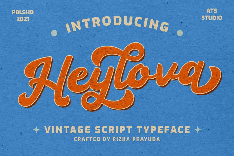 Heylova - Vintage Script Typeface