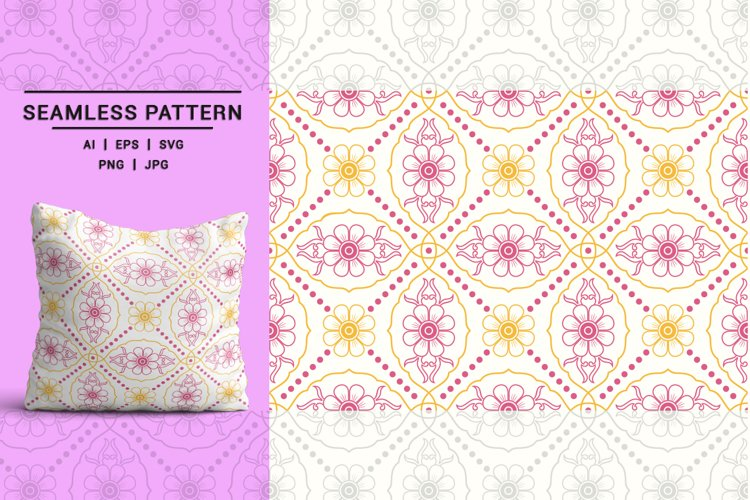Vintage Floral Seamless Pattern 02 example image 1