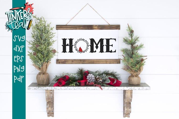 Home Cardinal Wreath SVG example image 1