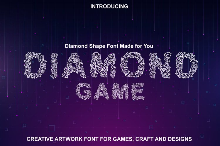 Diamond Font - Diamond Shapes Font for You example image 1