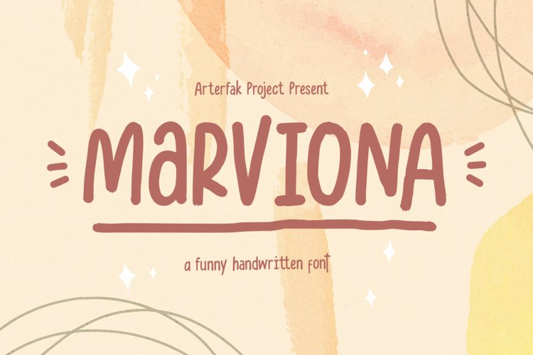 Marviona - Cute Handwriting