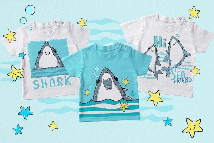 Cute Shark design print example image 1
