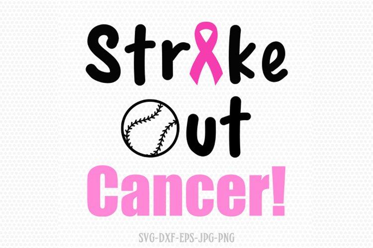 Strike out cancer svg, breast cancer ribbon svg