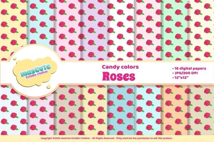 Digital Paper Pack - roses example image 1