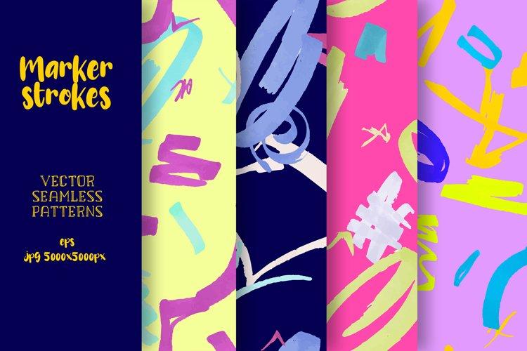 Marker strokes seamless patterns