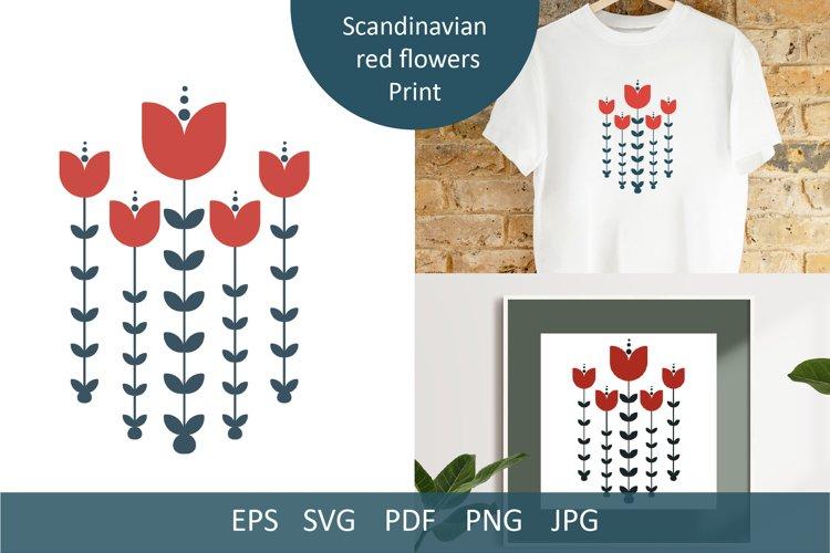 Scandinavian red flowers