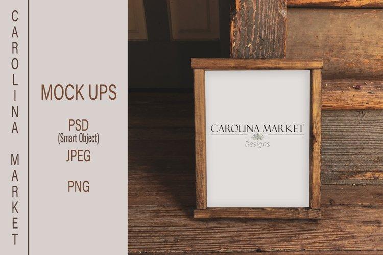 8x10 Wood Sign Mockup| Wood Sign Flat Lay | Stylized Photo