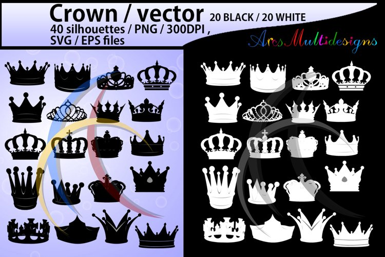 crown svg / crown /crown clipart / crown silhouette vector example image 1