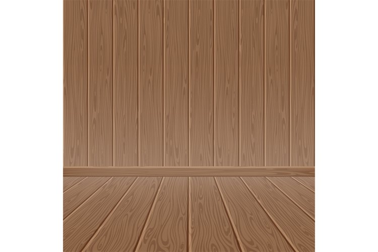Brown wood textured wall and floor example image 1