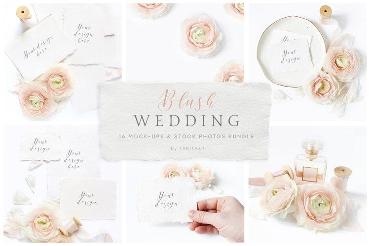 Blush Wedding mockups    stock photo bundle