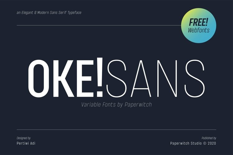 OKE! Sans Family with Variable Fonts example image 1