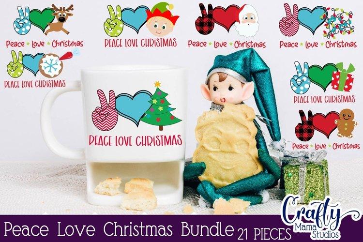 Christmas Svg, Peace Love Christmas Svg, Buffalo Plaid Kit example image 1
