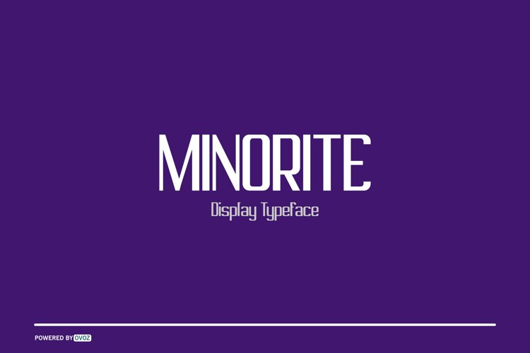 MINORITE DISPLAY TYPEFACE FONT example image 1