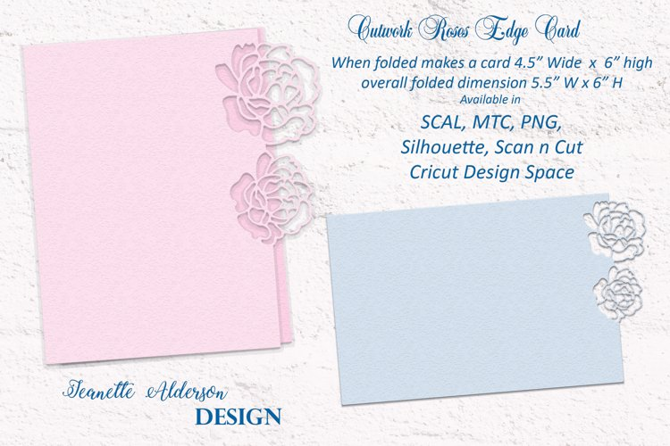 Cutwork Roses Card Cutting File example image 1