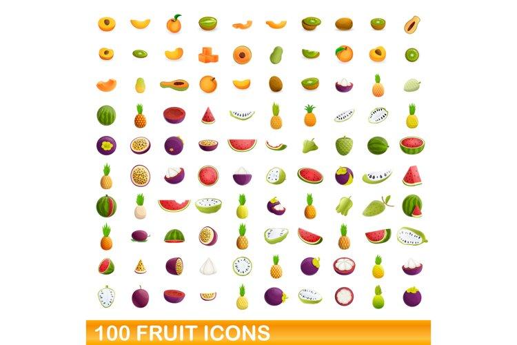 Fruit icons set, cartoon style example image 1
