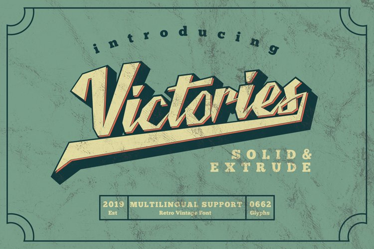 Victories Vintage Font example image 1