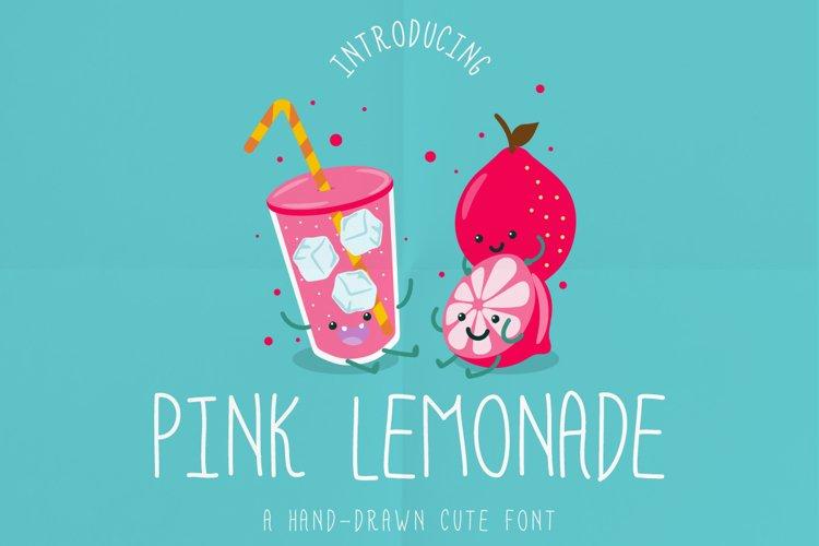 Pink Lemonade a hand-drawn cute font! example image 1