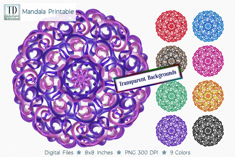 Mandala Printable Transparent Background, Sublimation PNG,