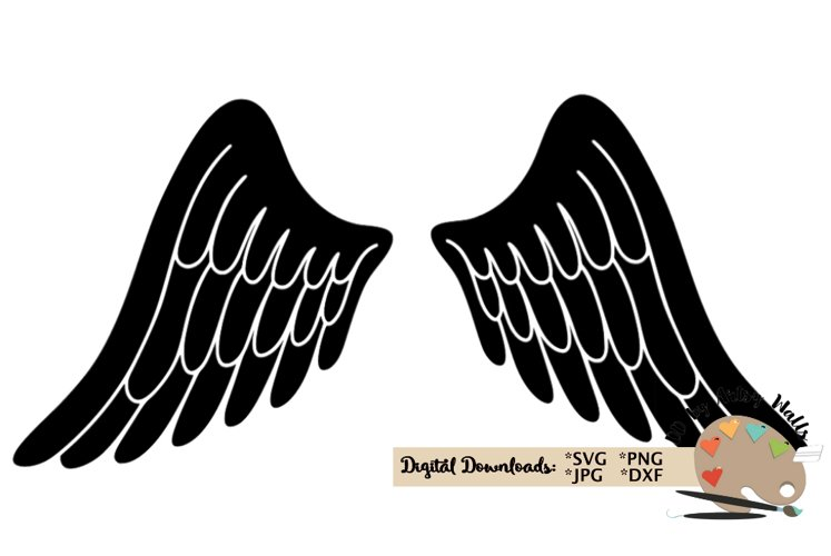 angel wings svg, In Loving Memory, Memorial svg dxf cut file example image 1