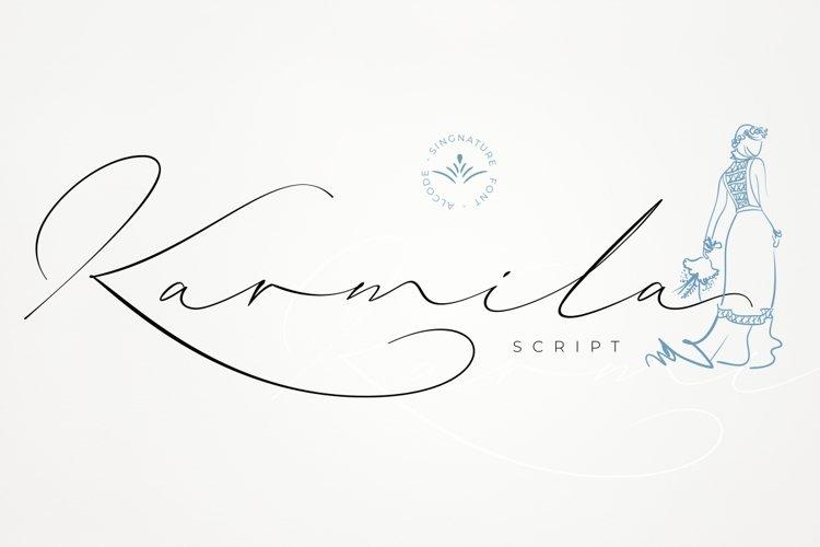 Karmila Script example image 1