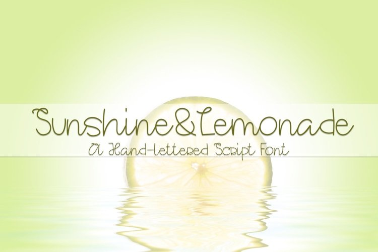 Web Font Sunshine&Lemonade - A Hand-Lettered Script Font
