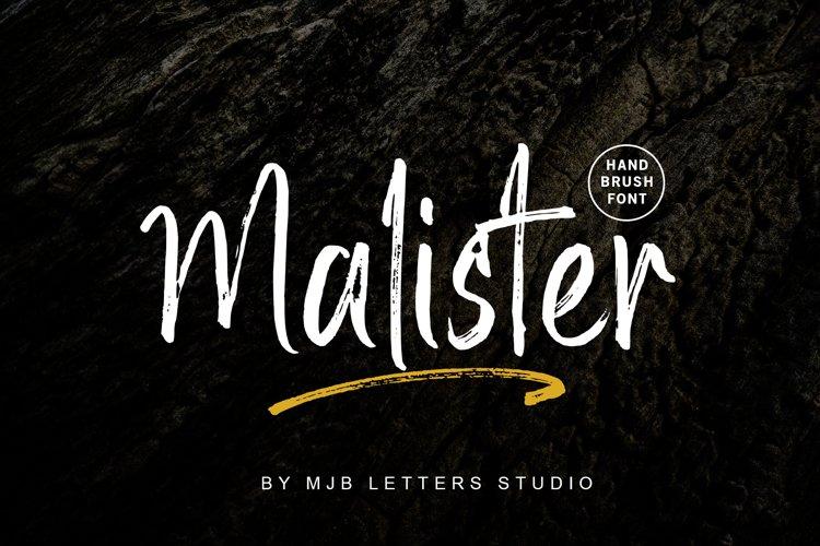 Malister | Strong Handbrush Font example image 1