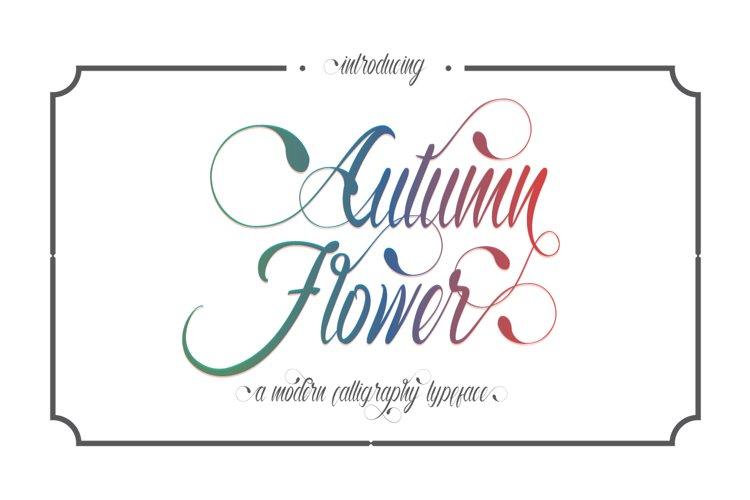 Autumn Flower Script example image 1