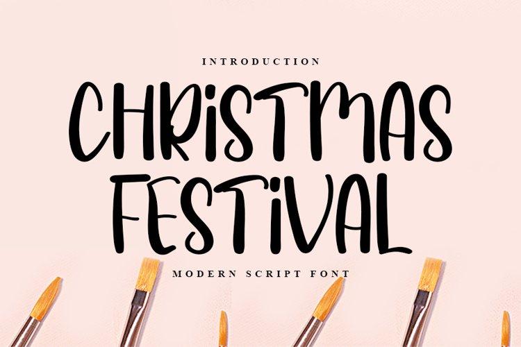 Christmas Festival - Modern Script Font example image 1
