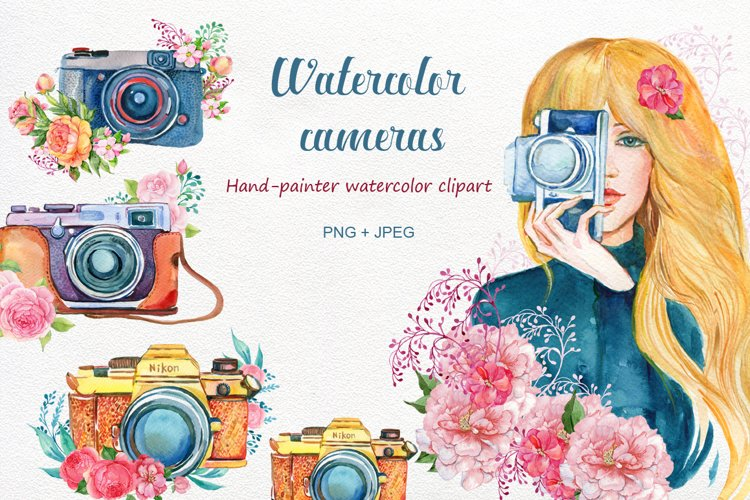 VINTAGE CAMERA WATERCOLOR