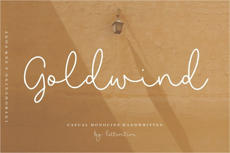 Goldwind Casual Monoline Handwritten Font example image 1