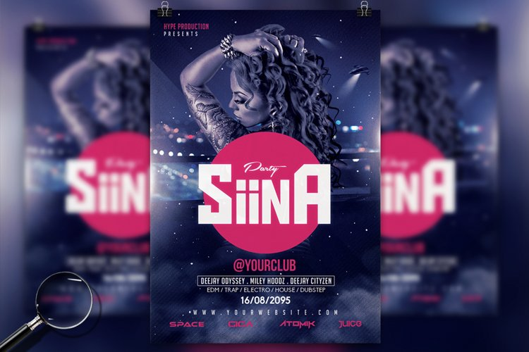 Siina   Futuristic Flyer Design