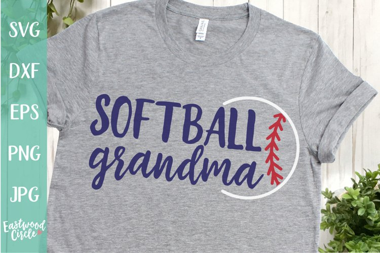 Softball Grandma - A Softball SVG Cut File for Crafters